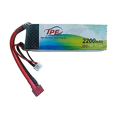 3S 11.1V Lipo Battery, High Discharge Lithium Polymer 20C 2200MAh RC Lipo Batteries Hard Case with Dean-Style T Connector for RC Vehicles Car, Trucks