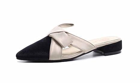Femmes Nouvelle Printemps 2018 Chaussures Été Mules Pointues Velours UwYrqxUf