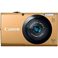 Canon PowerShot A3400 IS 16.0 MP Digital Camera with 5x Optical Image Stabilized Zoom 28mm Wide-Angle Lens with 720p HD Video Recording and 3.0-Inch Touch Panel LCD (Gold)
