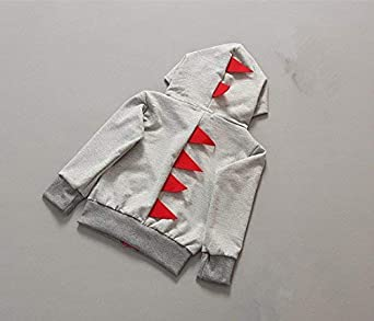 Dealone Baby Boys Long Sleeve Dinosaur Jacket Clothes Toddler Zip-up Hoodies Sweatshirt