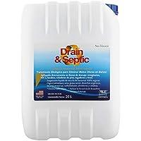 TLC Products Bacteria y enzimas para Eliminar Mal Olor en drenajes y baños Drain & Septic (20 L)