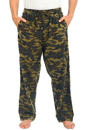 Del Rossa Men's Flannel Pajama Pants, Long Cotton Pj Bottoms, Medium Camouflage - Dark European (A0705P67MD)