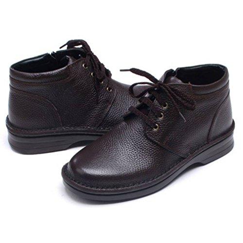 a7456a62 Epicstep Menns Ekte Skinn Uformell Komfort Kjole Formell Zip Snøre Opp Sko  Ankel Boots Oxfords Loafers ...