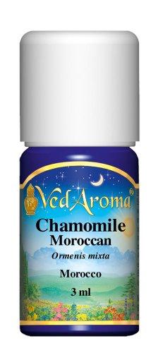 Essential Chamomile Moroccan Oil - VedAroma Chamomile, Moroccan Therapeutic Grade Essential Oil 3 ml
