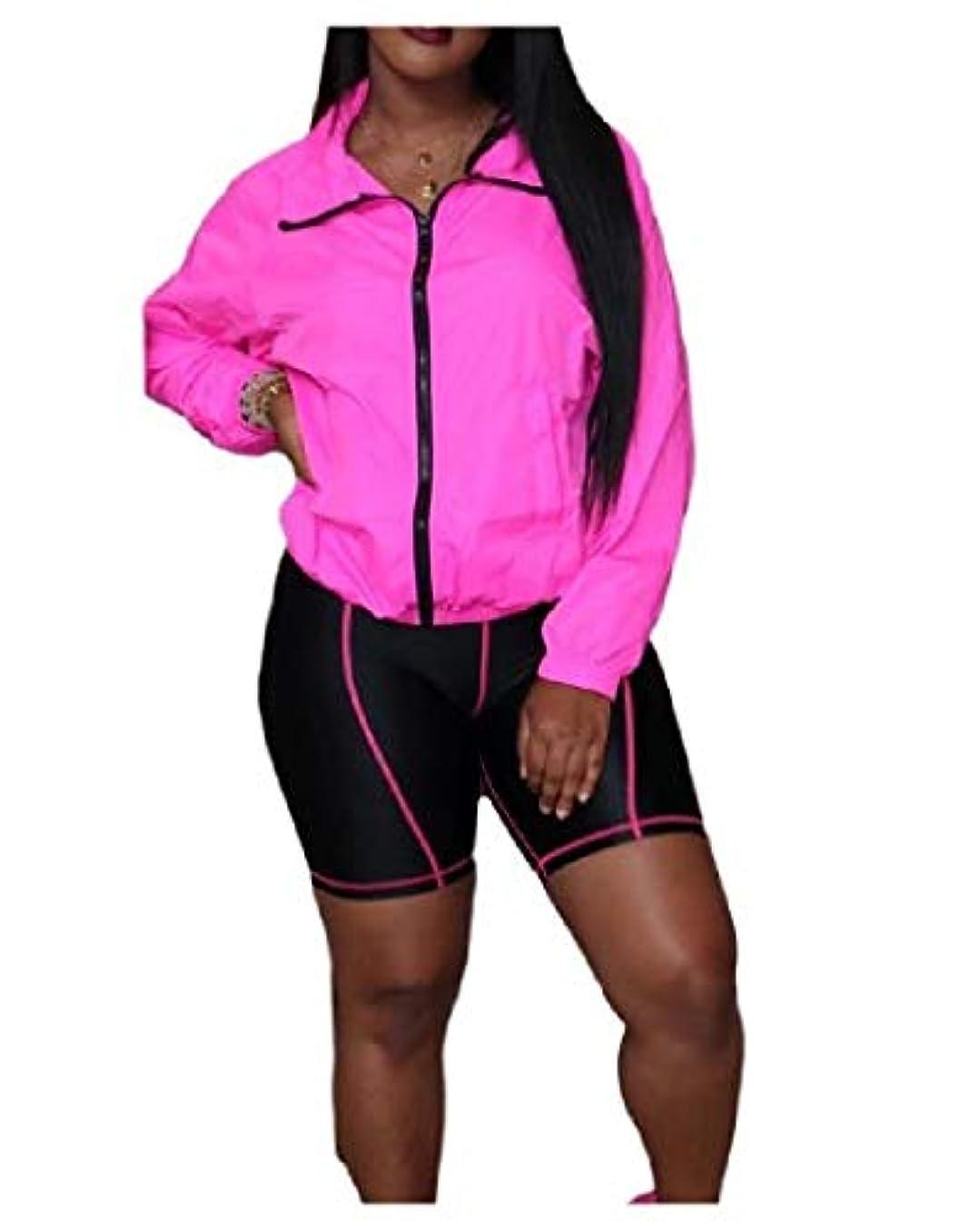 韻冷酷なくすぐったいYAXINHE 女性ジップアップカジュアル秋冬のトップスアウトウェアとパンツの衣装