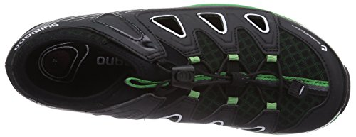 Shimano SH-CT46, Scarpe Ciclismo, Unisex Nero (Schwarz (Black/Green))