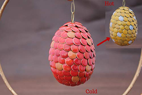Red Egg Ornaments - Handmade Ornament Magical Color Changing 3