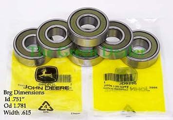 6 Pack  John Deere Lawn Mower Spindle Bearing AM122119 ZSKL