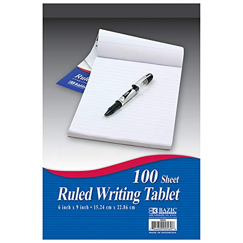 New 402243 100 Ct. 6 Inch X 9 Inch Ruled Writing Tablet (48-Pack) Writing Materials Cheap Wholesale Discount Bulk Stationery Writing Materials Writing Tablet