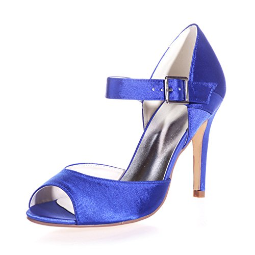 Clearbridal Women's Satin Prom Party Evening Dress Wedding Bridal Shoes ZXF5623-13 Royal Blue