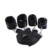 First@select Under Bed Bondage Restraint System with Hand Cuffs Ankle Cuff Bondage Collection For Male Female Couple