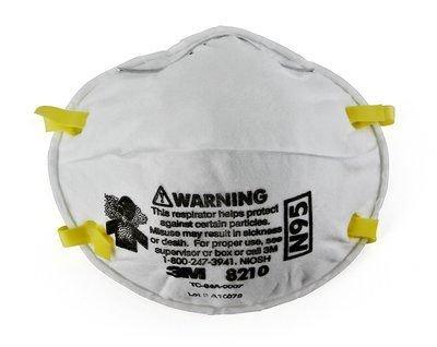 3M: N95 Respirator Masks White 20/Box - 8210