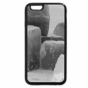 iPhone 6S Case, iPhone 6 Case (Black & White) - Ice Blocks In The Snow