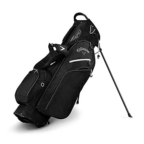 Callaway Golf 2019 Fusion Zero Stand Bag, Black/Titanium/White