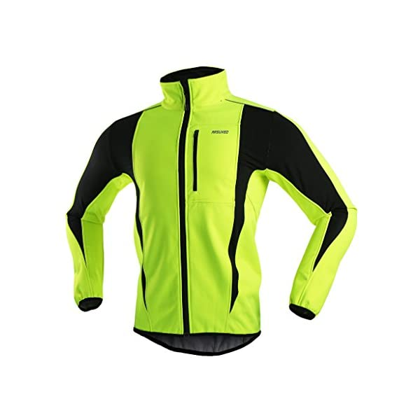 Kerrian Online Fashions 41i-FfWNCKL ARSUXEO Winter Warm UP Thermal Softshell Cycling Jacket Windproof Waterproof 15-k