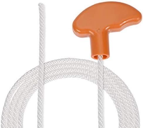 sourcing map 5Stk. Rückstoß Anlasser Seil mit rutschfestem Griff 5mm Dmr. 1,3 Meter 4ft Polyester Zugschnur für 173F 188F 190F Rasenmäher Trimmer Motor Teil