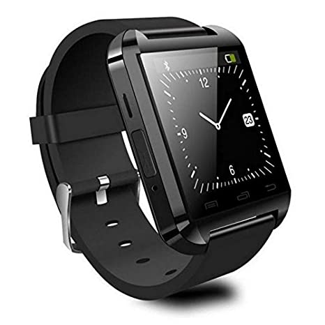 Reloj Inteligente Smartwatch Bluetooth Negro con notificaciones y lectura de Whatsapp
