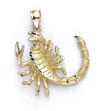 JewelryWeb Scorpsion 14 Carats Pendentif
