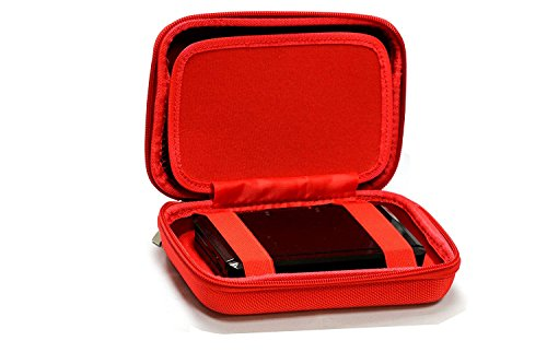 Navitech Red Power Bank EVA Cover / Case / Travel Case For GRDE 25000mAh Power bank Ultra High Capacity External Battery Portable Charger