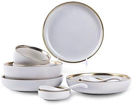 Amazon.com: WH - Juego de vajilla de cerámica para el hogar ...