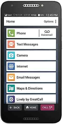 """Jitterbug Smart2 No-Contract Easy-to-Use 5.5"""" Smartphone for Seniors by GreatCall"""