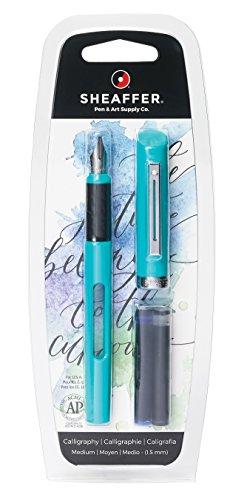 Pen Sheaffer Plastic (Sheaffer Calligraphy Viewpoint Teal Fountain Pen with Medium Nib (83401))