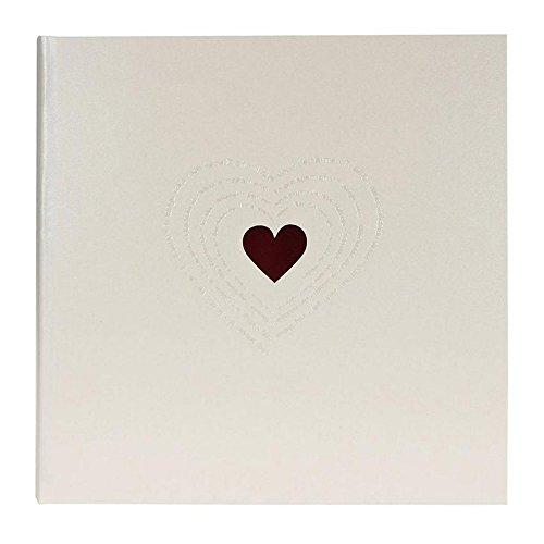 Goldbuch Fotoalbum, Ti Amo, 30x31 cm, 60 Seiten mit Pergamin, Metalisiertes Papier mit Blind- & Rotprägung, 27015