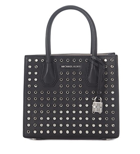 Michael Kors Studio Mercer Studded Leather Crossbody in Black by MICHAEL Michael Kors