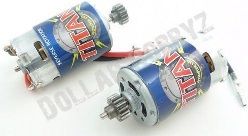 B00ERUCSFE Traxxas 1/10 E-Revo2 TITAN 550 MOTORS & PINION GEARS 3975 19T 3947 (Maxx 41i-IOf7CjL