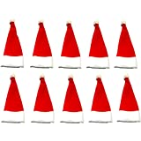 "Craftistics (10 Pack) 5 1/2"" Inches Tall Christmas Santa Hat Do-it-Yourself (DIY) Craft Supply"