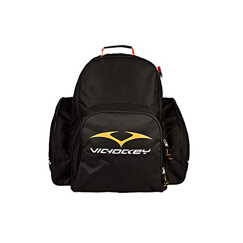 VIC Hockey Bag | 34 Wheeled Equipment Backpack | Perfect for Boys/Girls/Youth | Black