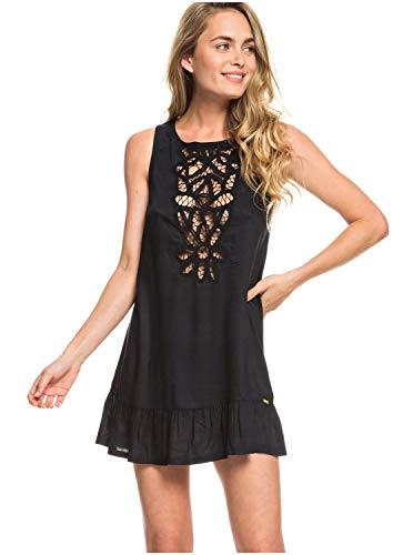 (Roxy Womens Goldy Soul - Beach Tank Dress - Women - S - Black True Black S)