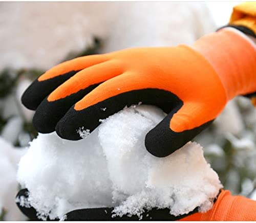 手袋 防寒および凍結防止手袋プラスベルベット暖かい労働保険作業用手袋滑り止め冬用防寒性 LMMSP (Size : M)