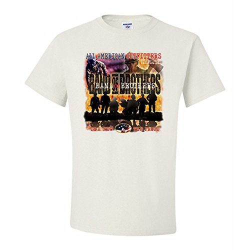 All American Outfitters Firefighters-Band Of Brothers T-Shirt 3X-Large White (All American Outfitters)