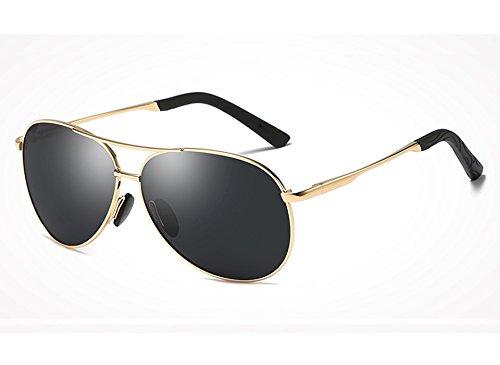 Polarisées Homme Lunettes des Soleil Jambes Lunettes gray Guide Sunglasses Lunettes Hommes de TL Printemps Soleil de pour Designer gold Lunettes Lunettes vapqYxx