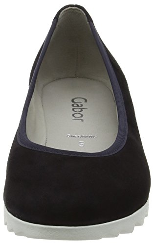 Gabor Request Womens Modern Wedge Court Shoes Blue (pazifik S.weiss 36)