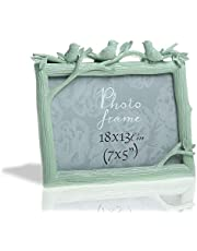 Behome Classic Resin Birds Decor Picture Frame with High Definition Glass for Wall and Table Photo Display