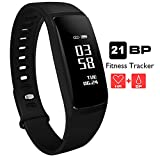 AUPALLA Fitness Tracker, 21BP Smart band Activity Tracker Work With Heart Rate Monitor and Blood Pressure Measure Pedometer Sleep Monitor Calories Track Support iPhone Android Smartphone