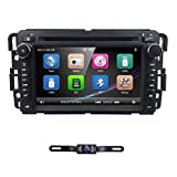 hizpo Car Navigator 7 Inch Double Din Touch Screen in Dash Car DVD Player Stereo FM/AM Radio Receiver Bluetooth Fit for GMC Chevrolet Buick Silverado Sierra Yukon
