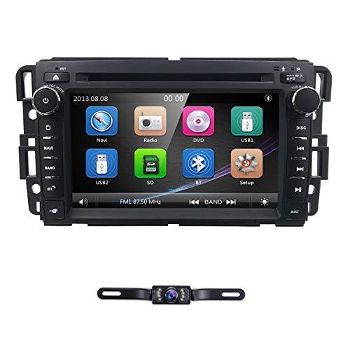 hizpo Car Navigator 7 Inch Double Din Touch Screen in Dash Car DVD Player Stereo FM/AM Radio Receiver Bluetooth Fit for GMC Chevrolet Buick Silverado Sierra Yukon ()