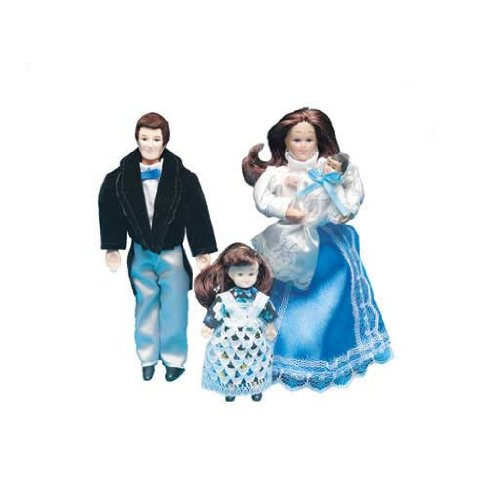 Dollhouse Miniature Victorian Dollhouse Family