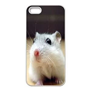 IPhone 5,5S Cases Black Eyed White Mouse For Teen Girls, Phone Case For Iphone 5s For Girl Zachcolo, [White]
