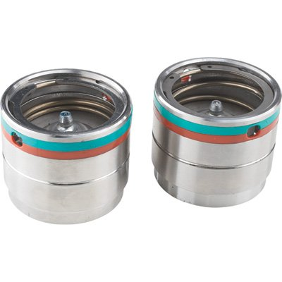 Ultra-Tow High-Performance Bearing Protectors - Pair, Fit 1.98in. Hubs, Stainless Steel, Grease Level Indicators, Model# 5712940
