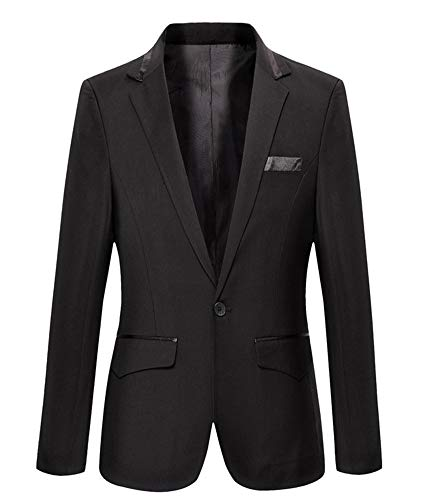 Mens Slim Fit Casual One Button Blazer Jacket (M, 301 ()