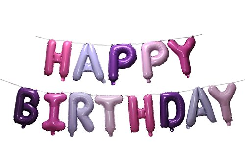 SGODA Happy Birthday Mylar Balloons Letters Balloon ()