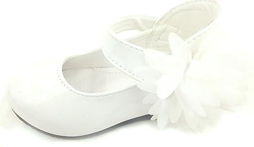 familientrends Ballerina Festliche Kinderschuhe Mädchenschuhe Halbschuhe weiß Blume