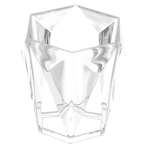 FERIDRAS Diamante Portaspazzolino, Bianco, 9.5x9.5x10.199999999999999 cm Brand 691002