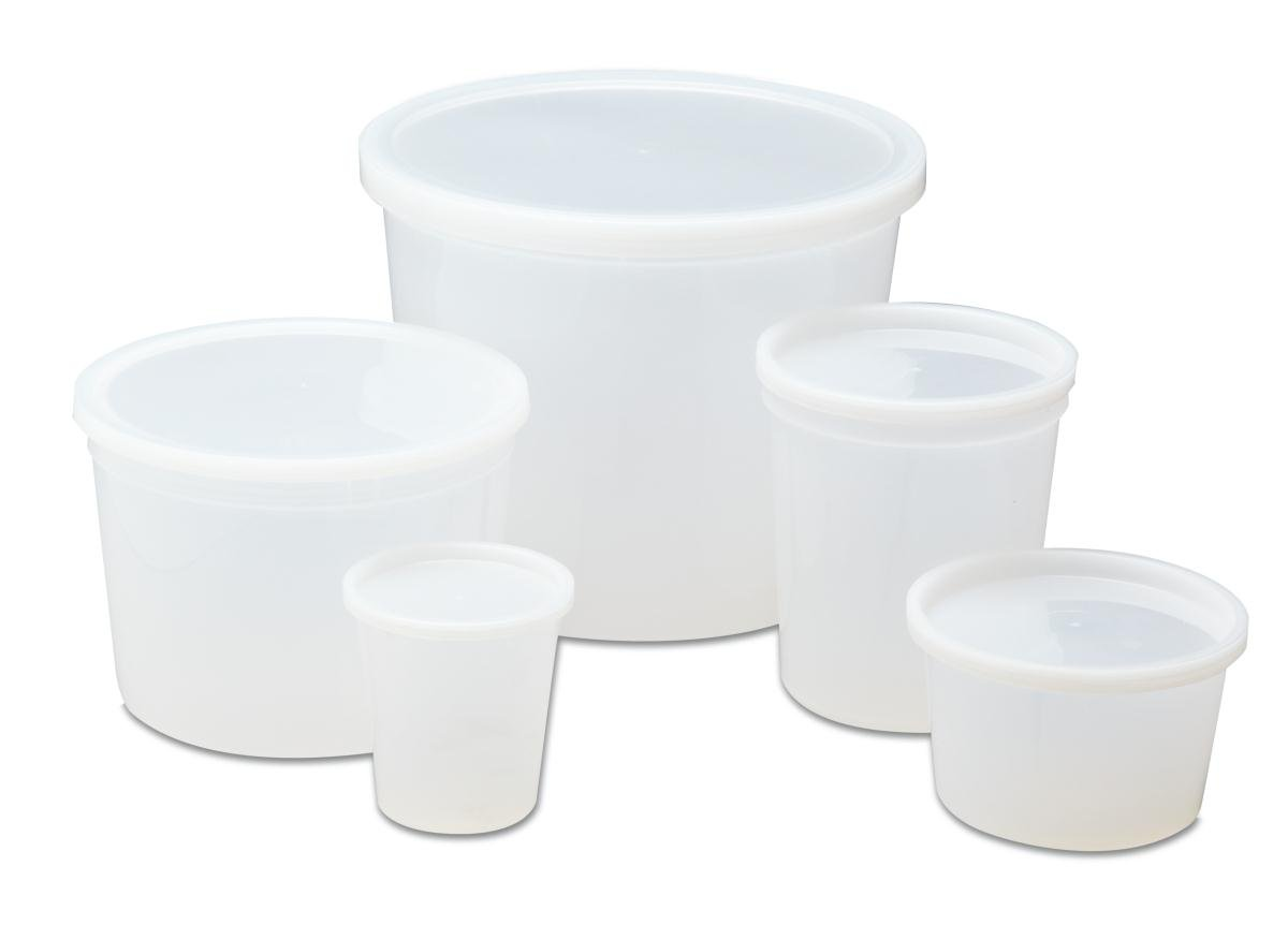 Medline DYND34255 Pathology Containers with Lid, Polyethylene, Non-Sterile, Latex Free, 8 Ounce Capacity (Pack of 250)