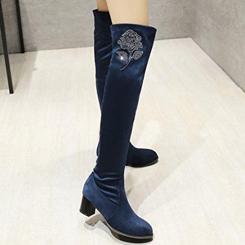 Classic AIYOUMEI AIYOUMEI Boot Blue Women's Women's Classic wqCxCIgp
