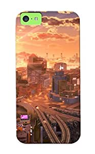 Ideal Inthebeauty Case Cover For Iphone 5c(future Cities ), Protective Stylish Case